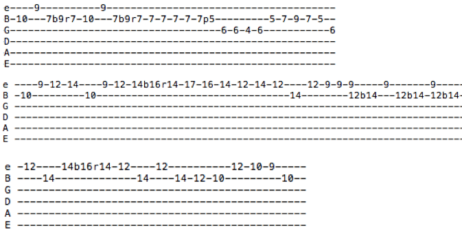 tablature solo californication